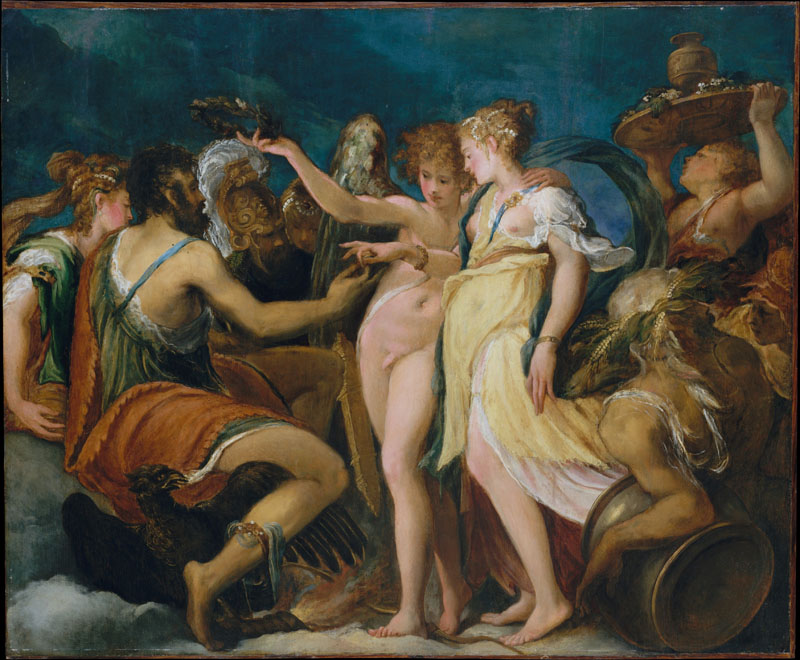Andrea Schiavone--The Marriage of Cupid and Psyche