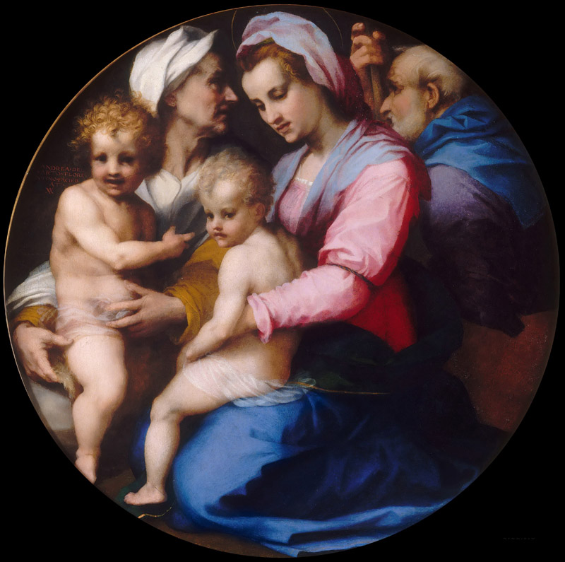 Andrea del Sarto -- Holy Family with Saint Elizabeth and young John the Baptist