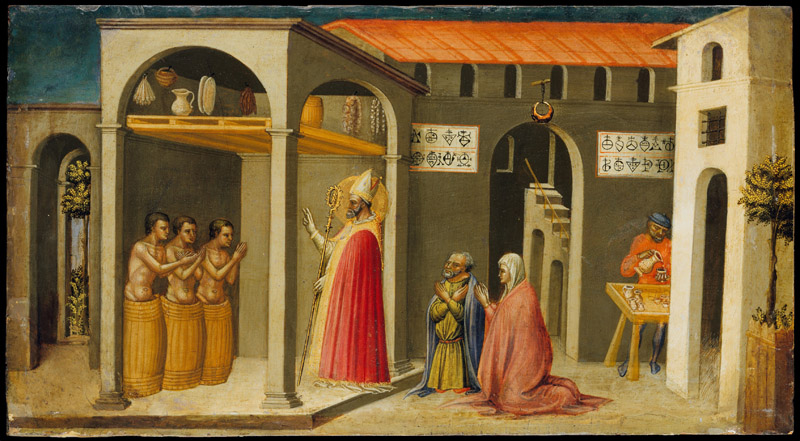 Bicci di Lorenzo--Saint Nicholas Resuscitating Three Youths