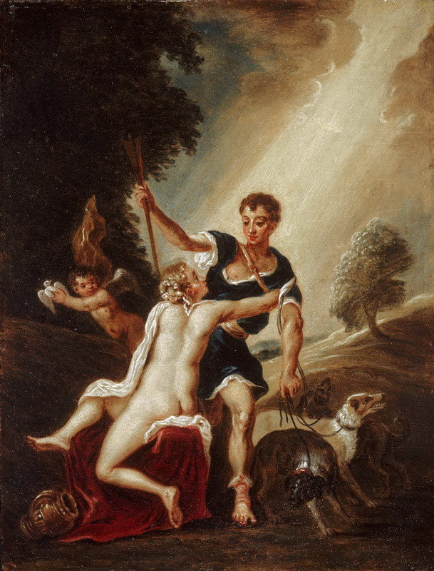 David Teniers II, Flemish (active Antwerp and Brussels), 1610-1690 -- Venus and Adonis