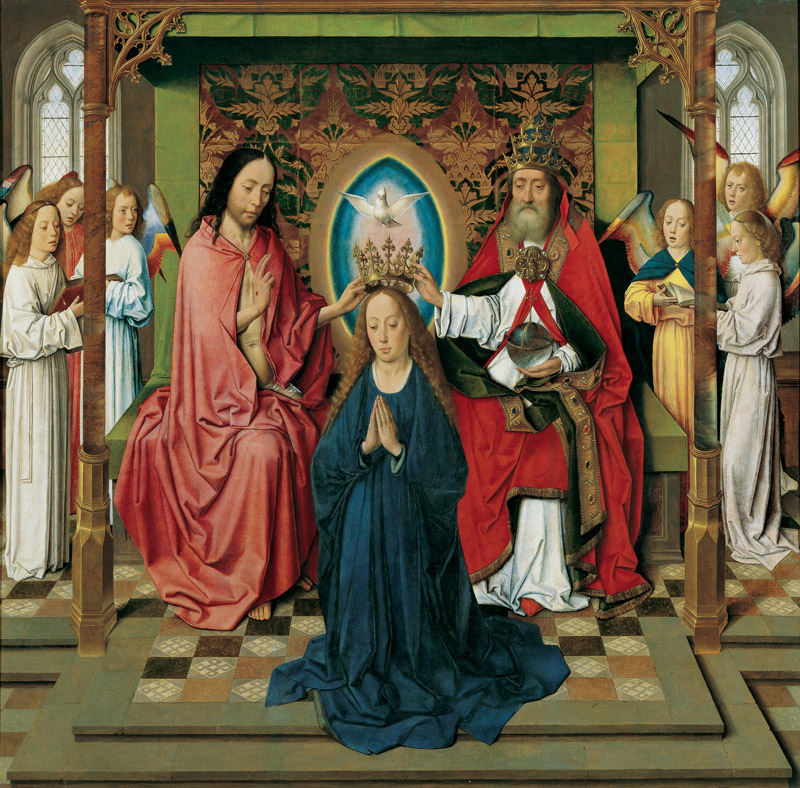 Dieric Bouts - Coronation of the Virgin Mary, c. 1450