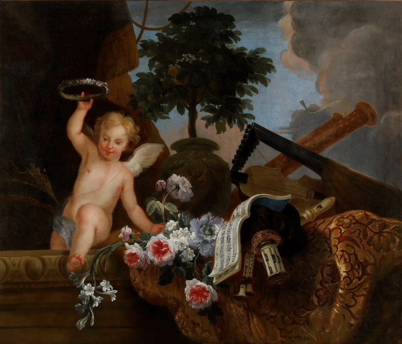Florentin Damoiselet -- Cupid and flowers
