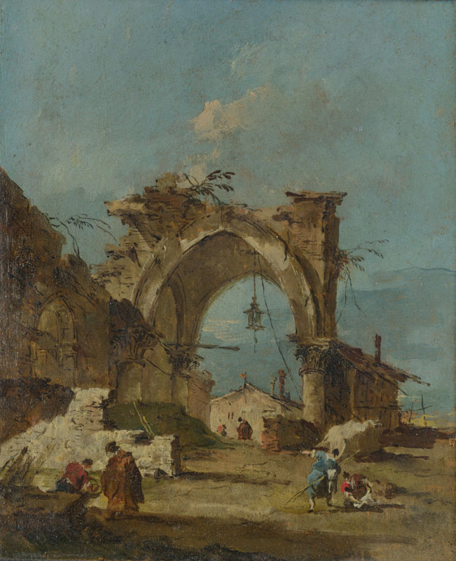 Francesco Guardi - A Caprice with a Ruined Arch