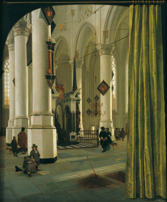 Hendrik van Vliet - Interior of the Nieuwe Kerke, Delft, with the tomb of William the Silent, Pri