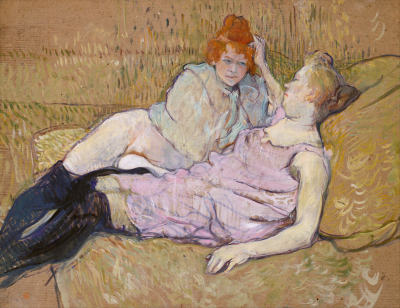 Henri de Toulouse-Lautrec--The Sofa
