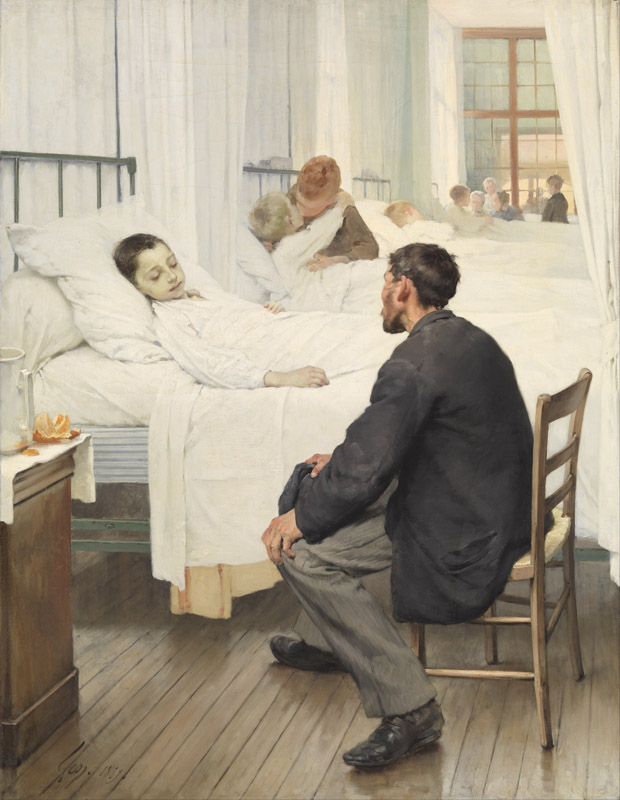 Henri Geoffroy - Visit day at the Hospital
