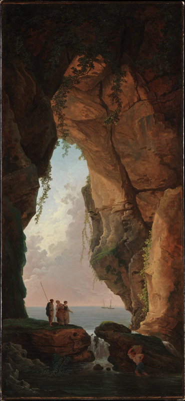 Hubert Robert--The Mouth of a Cave