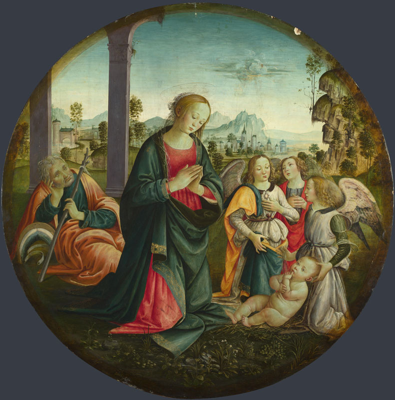 Italian, Florentine - The Holy Family with Angels