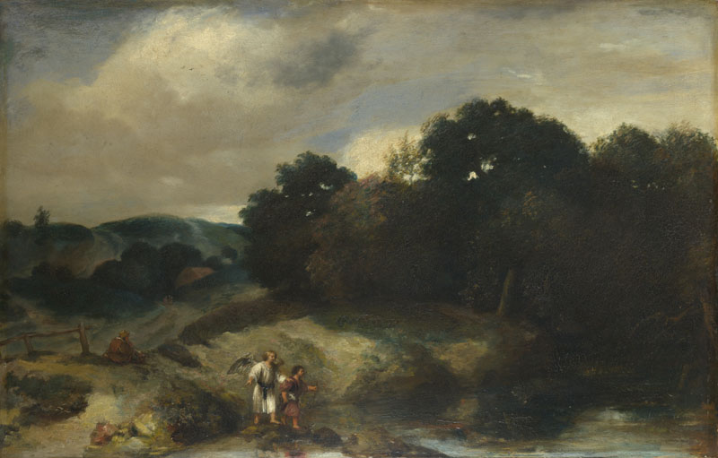 Jan Lievens - A Landscape with Tobias and the Angel