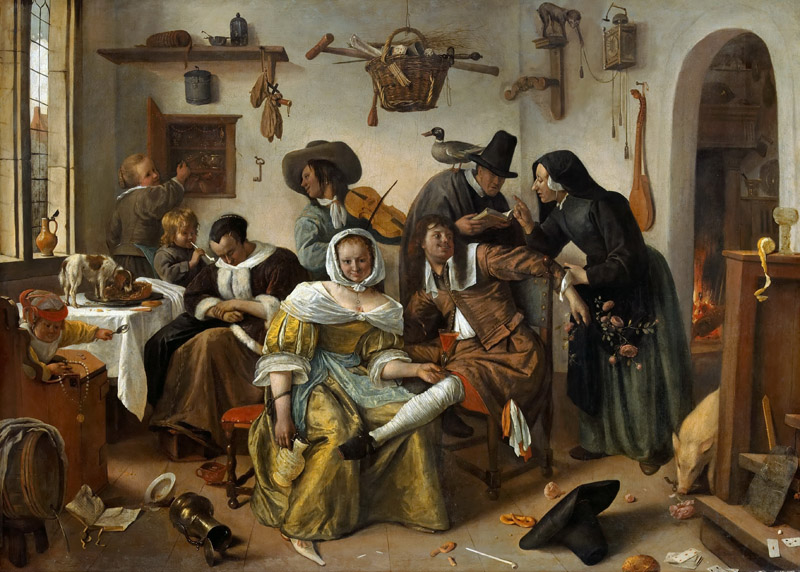 Jan Steen -- The Topsy-Turvy World