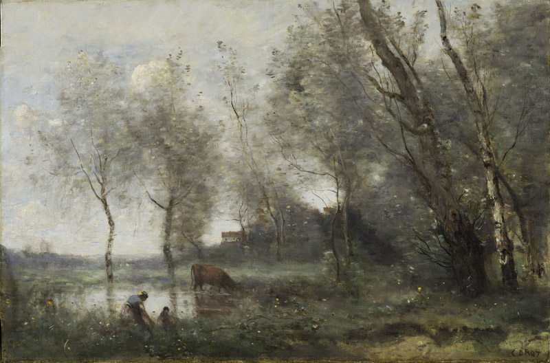 Jean-Baptiste-Camille Corot - The Pond, c.1868-1870