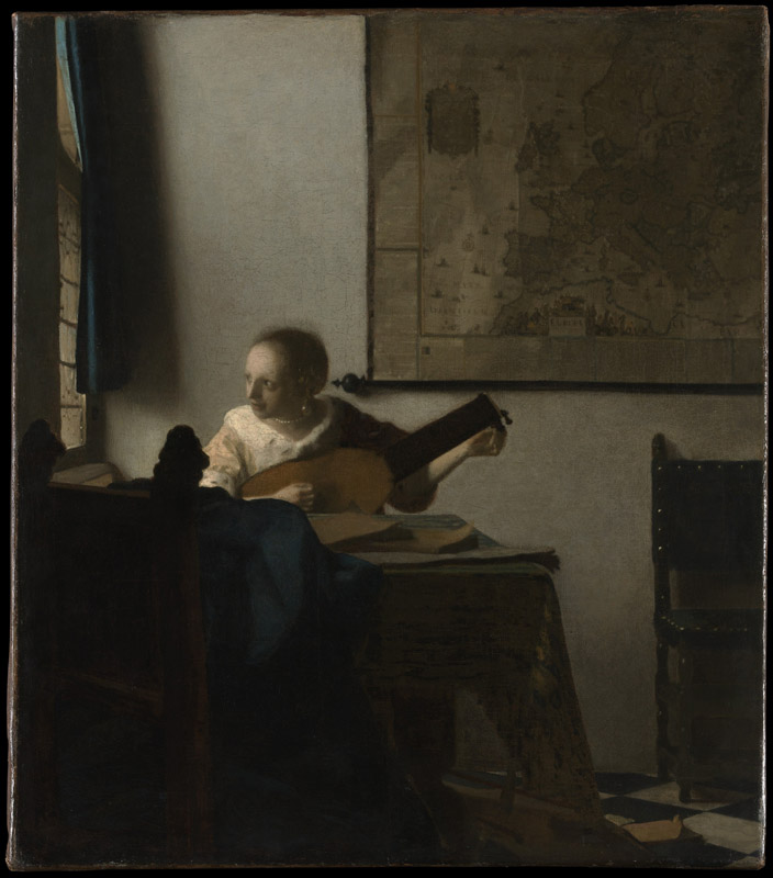 Johannes Vermeer--Woman with a Lute