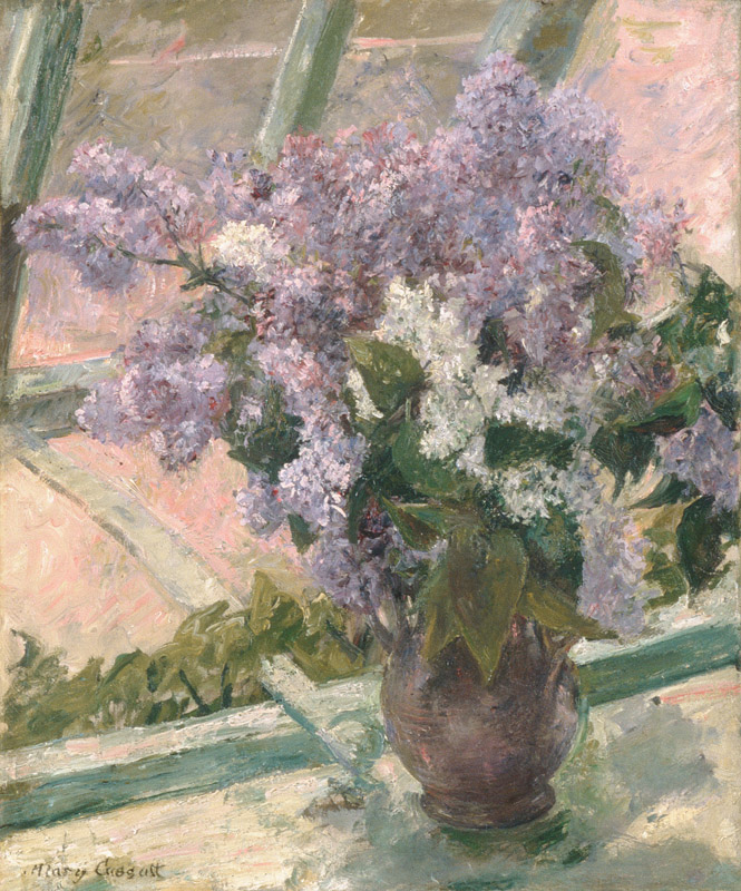 Mary Cassatt--Lilacs in a Window (Vase de Lilas a la Fenetre)