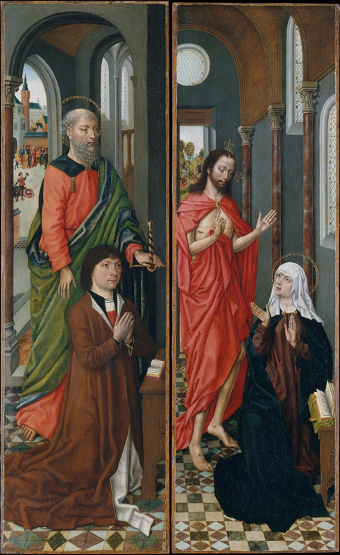 Master of the Saint Ursula Legend--Saint Paul with Paolo Pagagnotti Christ Appearing to His Mother