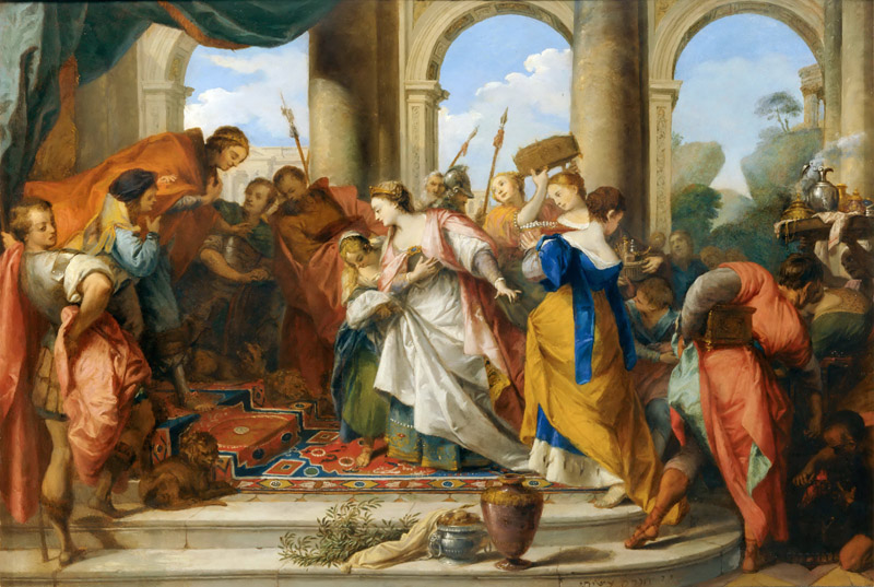 Nicolas Vleughels -- Solomon and the Queen of Sheba