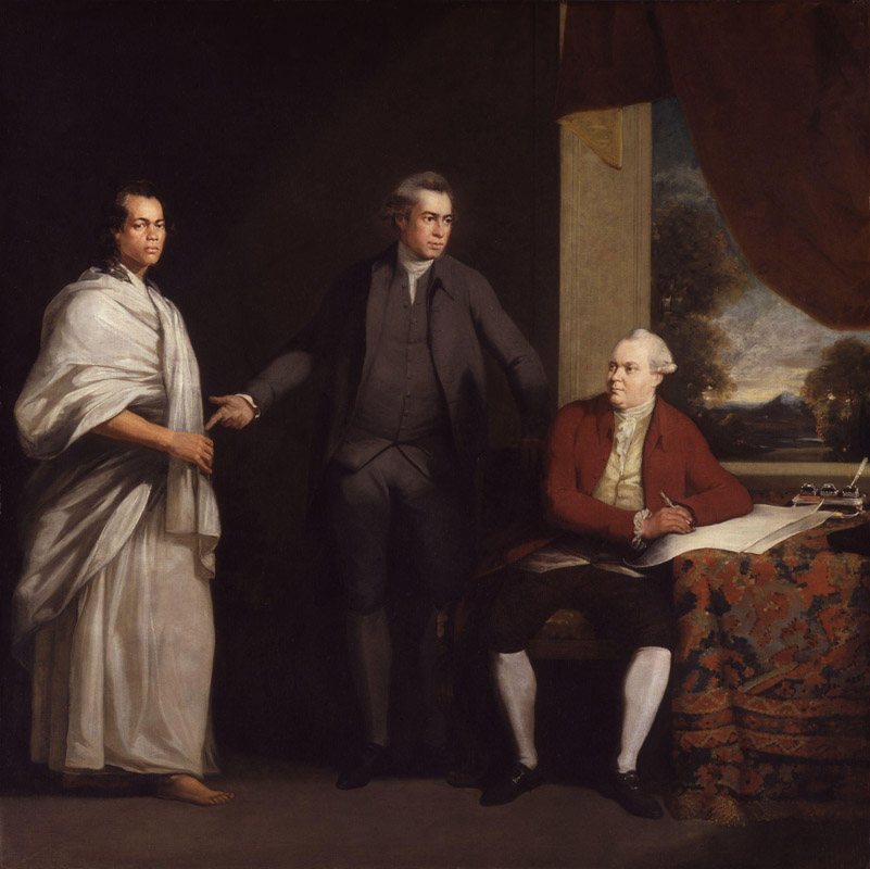 Omai (Mai) (Mai), Sir Joseph Banks and Daniel Charles Solander by William Parry