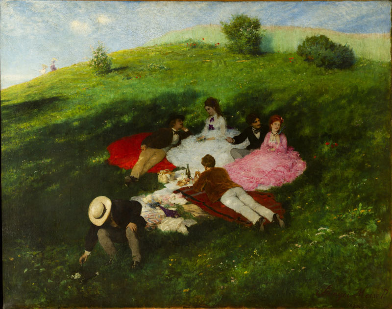 Pal Szinyei Merse (1845-1920)-Picnic in May