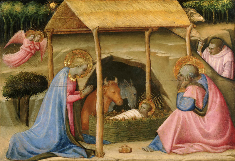 Paolo Schiavo (Paolo di Stefano Badaloni), Italian (active Florence and environs), 1397-1478 -- The Nativity