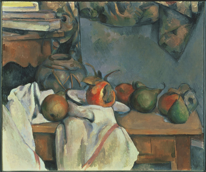Paul Cezanne (1839-1906)-Ginger Pot with Pomegranate and Pears