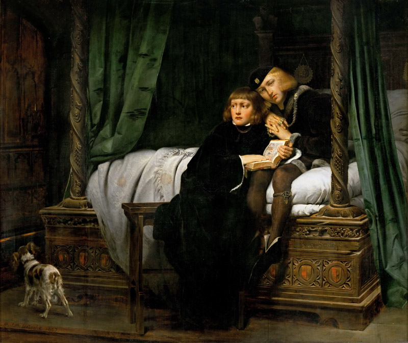 Paul Delaroche -- The Children of Edward IV in the Tower
