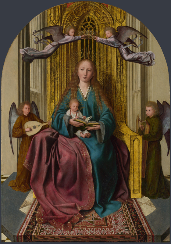 Quinten Massys - The Virgin and Child Enthroned, with Four Angels