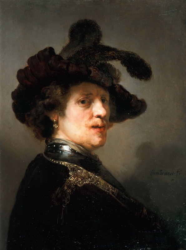 Rembrandt van Rijn - Tronie of a Man with a Feathered Beret