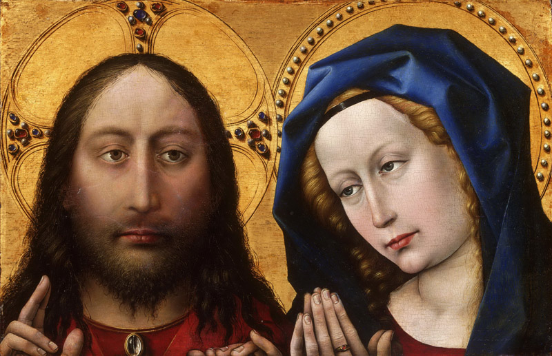 Robert Campin, also called the Master of Flemalle, Netherlandish (active Tournai), first documented 1406, died 1444 -- Christ and the Virgin