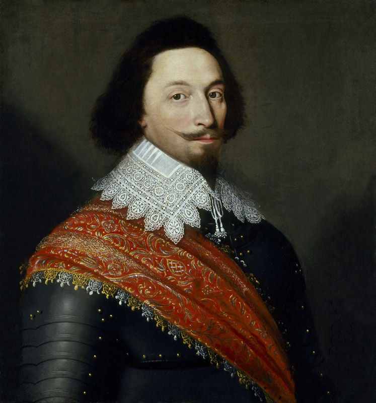 Unknown man, formerly known as George Villiers, 1st Duke of Buckingham by Cornelius De Neve