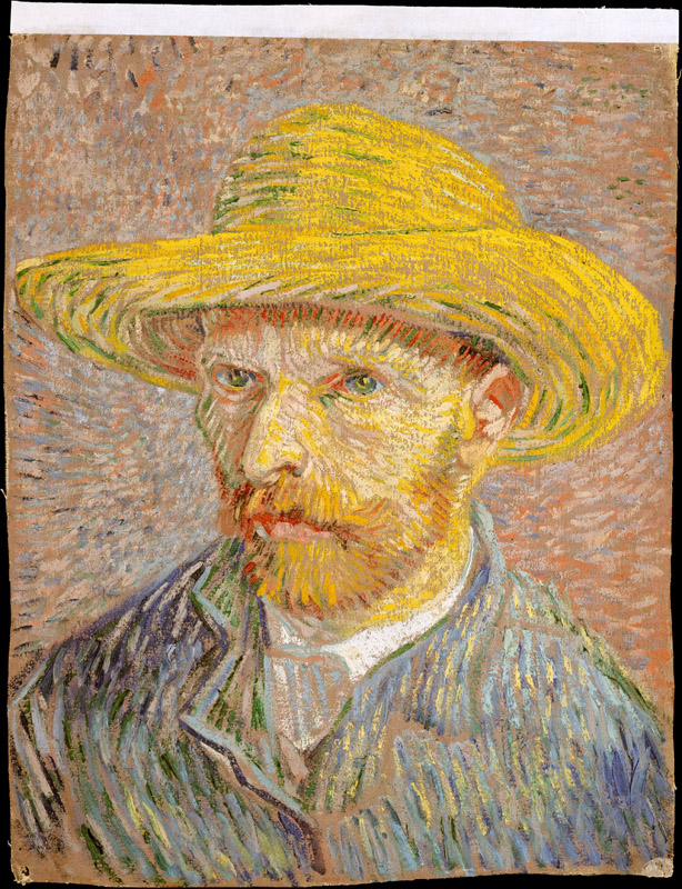Vincent van Gogh--Self-Portrait with a Straw Hat