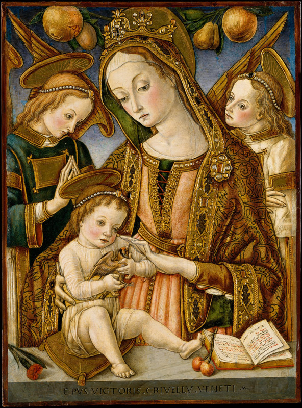 Vittore Crivelli--Madonna and Child with Two Angels