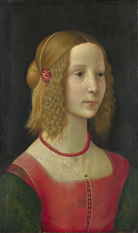 Workshop of Domenico Ghirlandaio - Portrait of a Girl