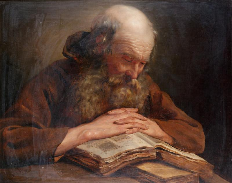 A Franciscan monk at his devotions