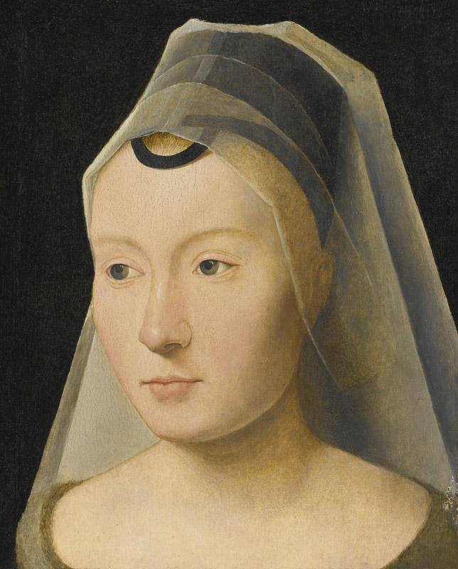 ATTRIBUTED TO HANS MEMLING-PORTRAIT OF A YOUNG WOMAN