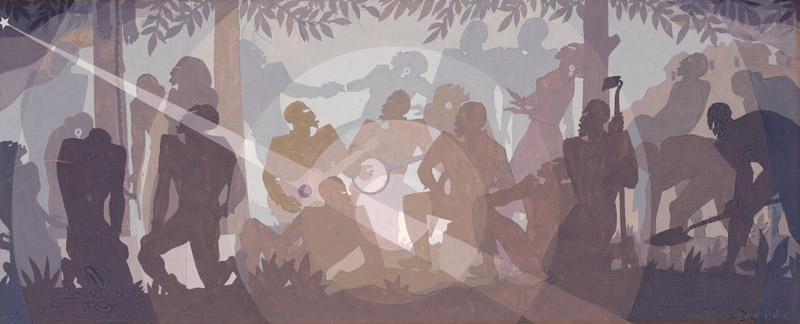 Aaron Douglas - Study for Aspects of Negro Life An Idyll of the Deep South, 1934