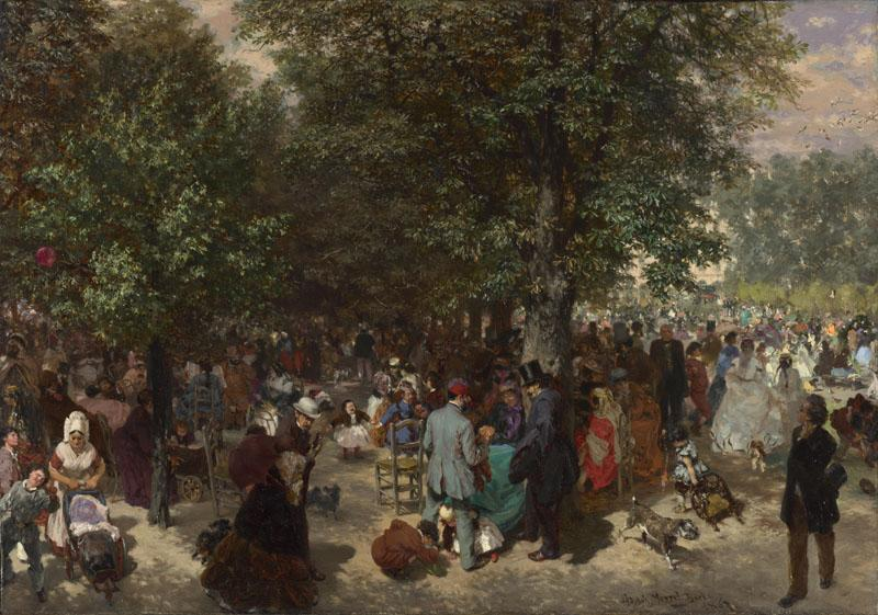 Adolph Menzel - Afternoon in the Tuileries Gardens