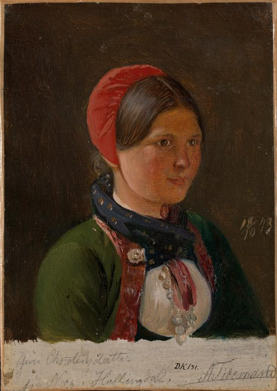 Adolph Tidemand - Girl from Hallingdal