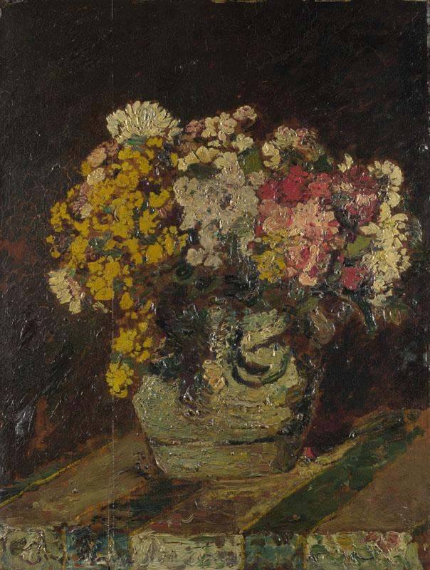 Adolphe Monticelli - A Vase of Wild Flowers