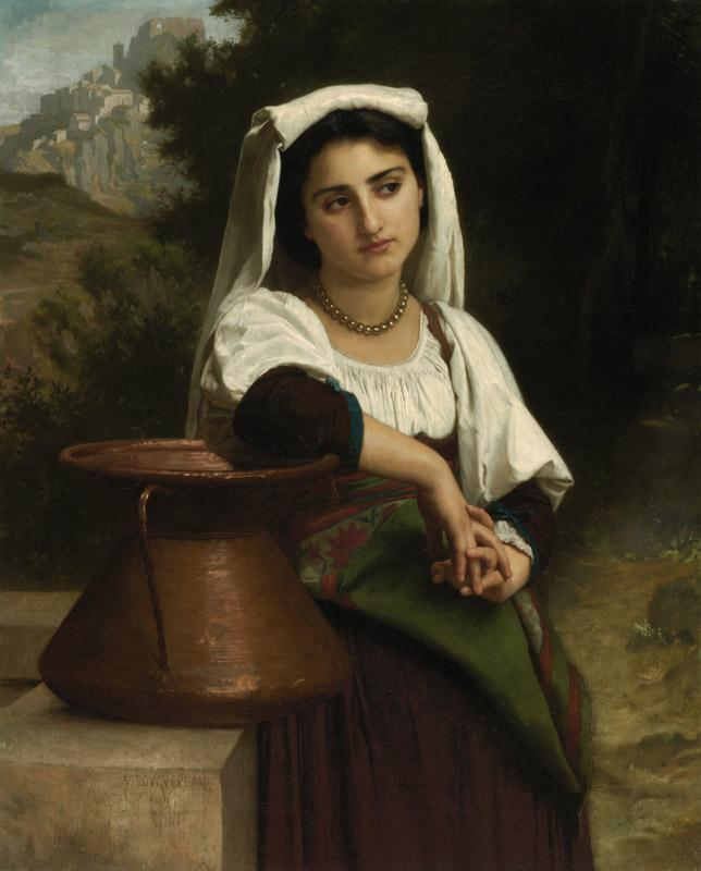 Adolphe William Bouguereau - Italian Woman at the Fountain, 1869