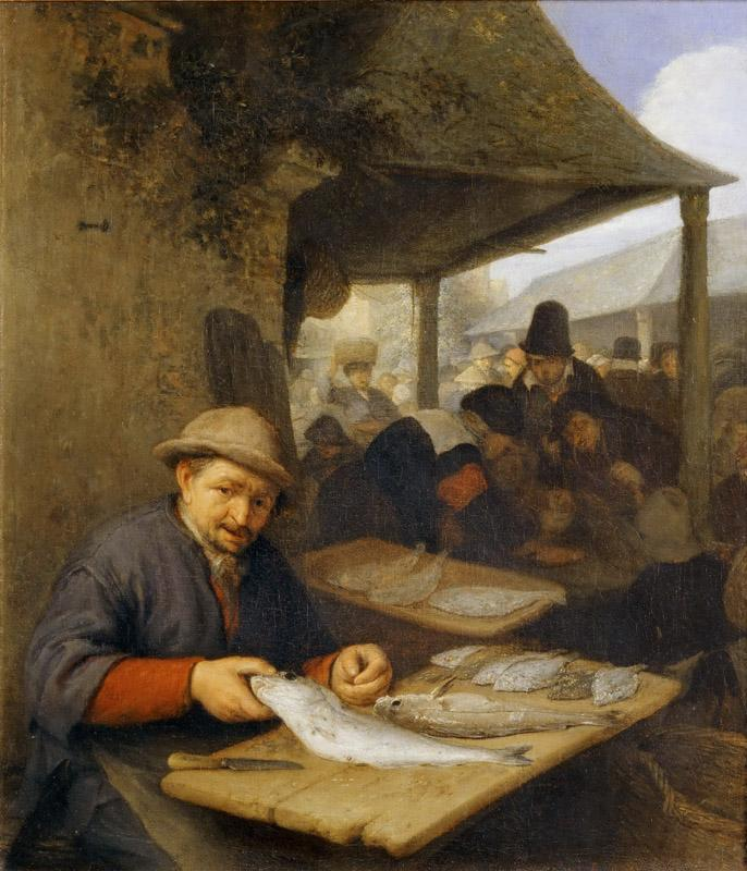 Adriaen van Ostade -- The Fish Market