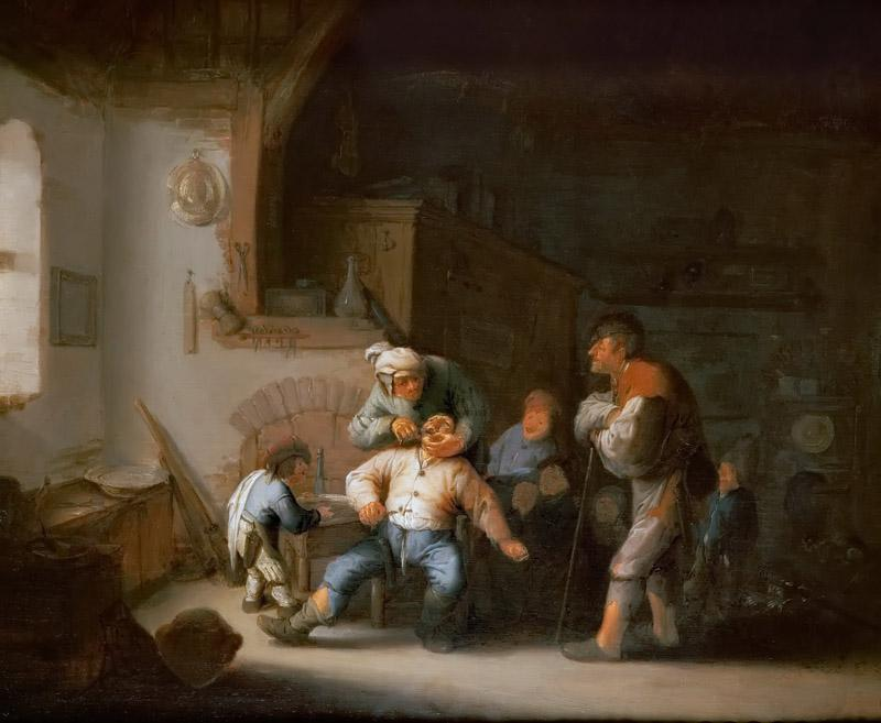 Adriaen van Ostade -- The Village Barber