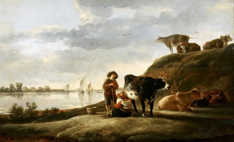 Aelbert Cuyp - Cattle by a River