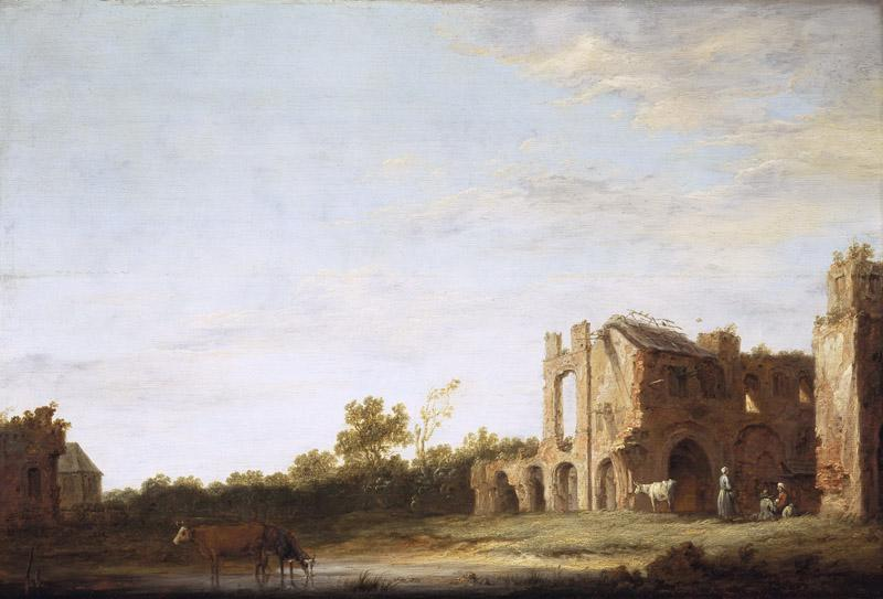 Aelbert Cuyp - Landscape with the Ruins of Rijnsburg Abbey, near Leiden