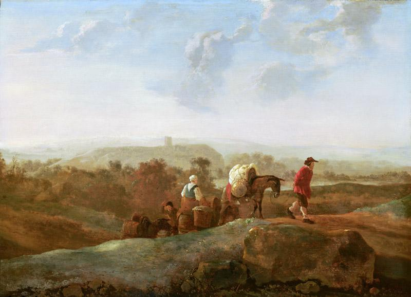 Aelbert Cuyp - Migrating Peasants in a Southern Landscape