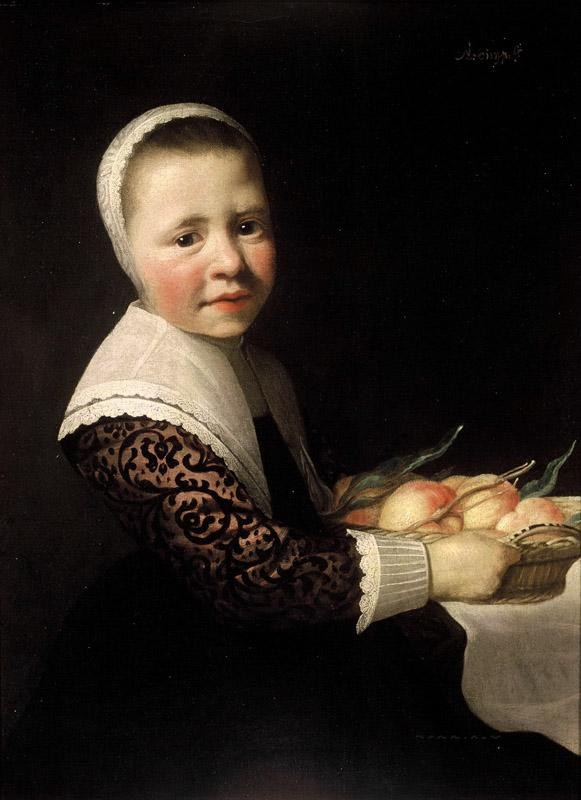 Aelbert Cuyp - Portrait of a Girl with Peaches
