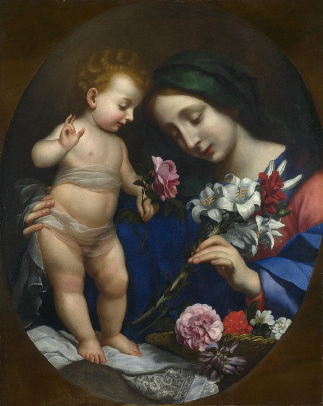 After Carlo Dolci - The Virgin and Child with Flowers