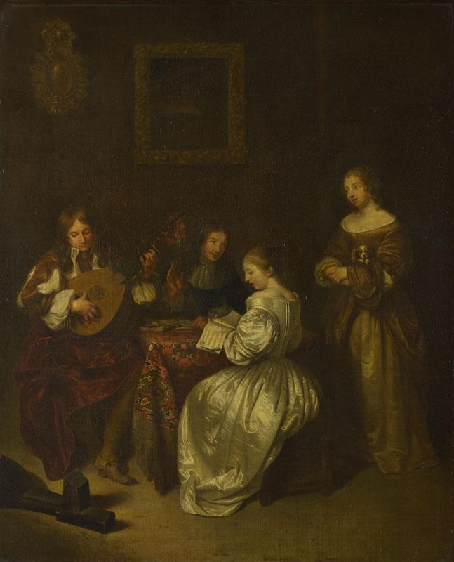After Caspar Netscher - A Musical Party