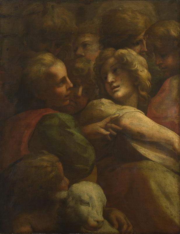 After Correggio - Group of Heads (1)