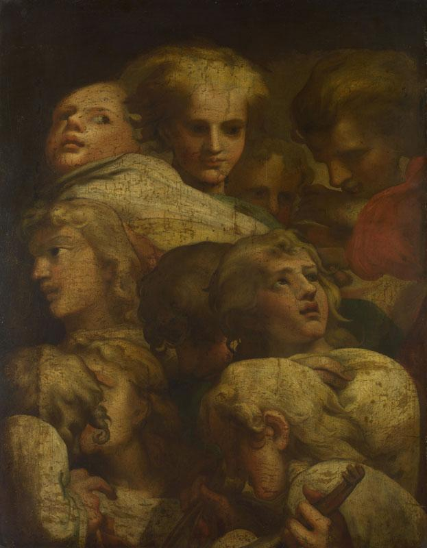 After Correggio - Group of Heads
