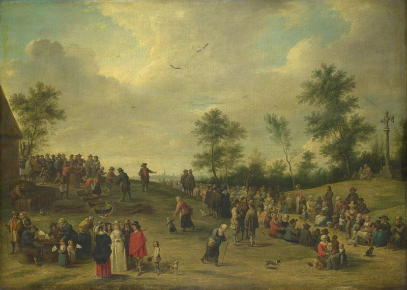 After David Teniers the Younger - A Country Festival near Antwerp