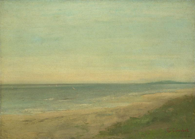 After Gustave Courbet - The Sea near Palavas